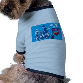 Retro konstdesign hund tee