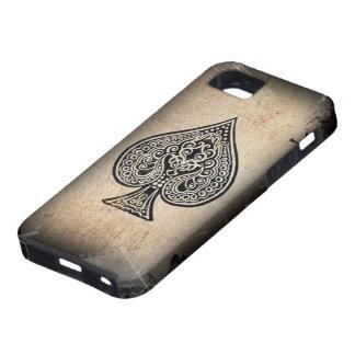Retro konstnärlig pokeröverdängare för kall Grunge iPhone 5 Case-Mate Fodral