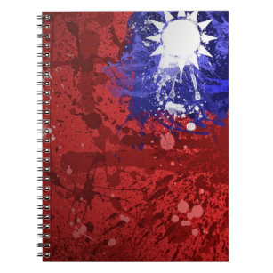 Retro konstnärlig taiwanesisk flaggaanteckningsbok anteckningsbok