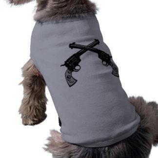 Retro korsade pistoler husdjurströja