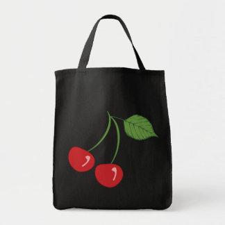 Retro körsbär mat tygkasse