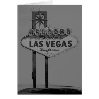 Retro kort för Las Vegas god jul