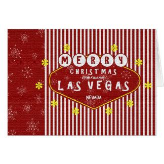Retro Las Vegas julkort Hälsningskort
