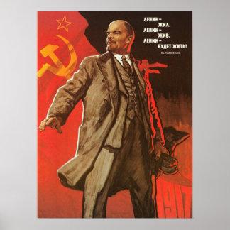 Retro Lenin affisch från den ryska revolutionen