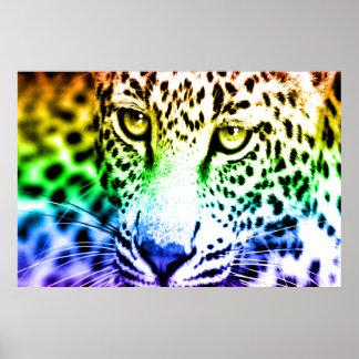 Retro Leopard för Corey tiger80-tal Posters
