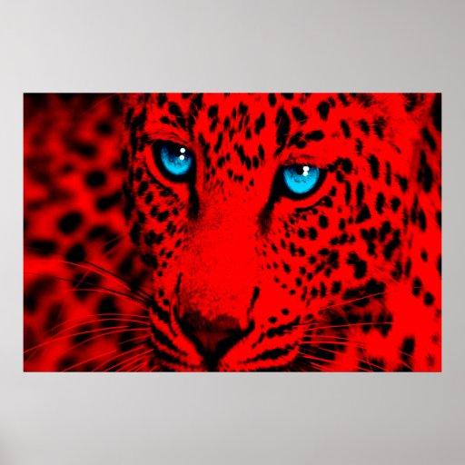 Retro Leopard för Corey tiger80-tal Affisch