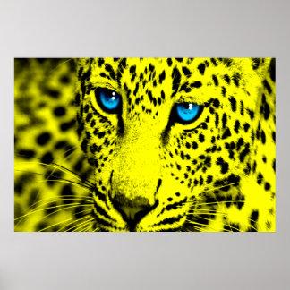 Retro Leopard för Corey tiger80-tal Poster