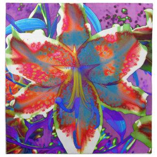 Retro lilja tygservett