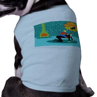 Retro lite Cowboyhund tröja Långärmad Hundtöja