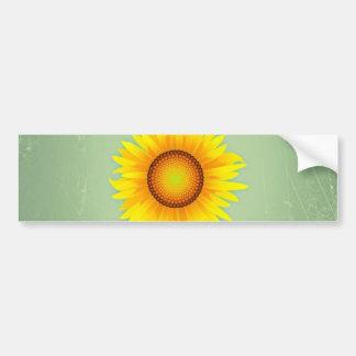 Retro ljus gul solros-/Mintgrönt för vintage Bildekal