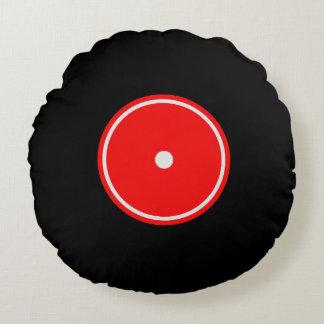 Retro LP-vinylrekord   den röda & orange rundan Rund Kudde