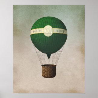 Retro luftballongaffisch poster