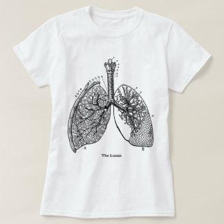 Retro Lungs för läkarundersökning för T-shirts