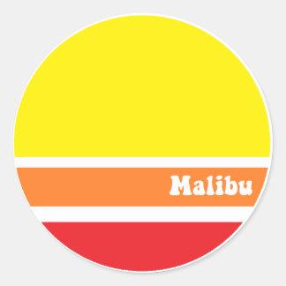 Retro Malibu klistermärke