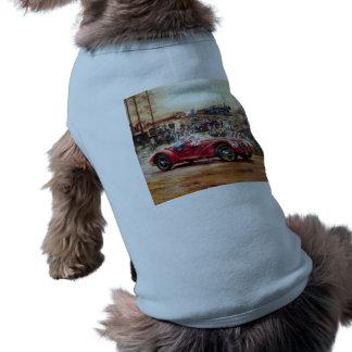 Retro målning för tävlings- bil långärmad hundtöja