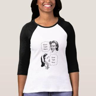 Retro mamma och dotter t-shirt