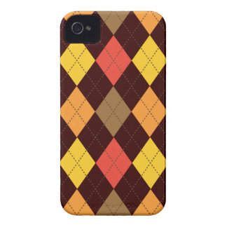 Retro mång- Argyle trendig iPhone 4 Case