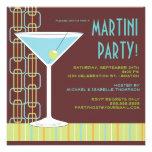 Retro Martini cocktailpartyinbjudan