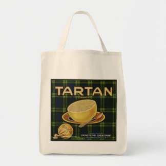 Retro matkasse för TartanGrapefuit etikett