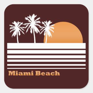 Retro Miami Beach klistermärkear Fyrkantigt Klistermärke