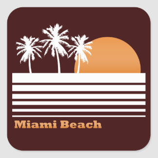 Retro Miami Beach klistermärkear