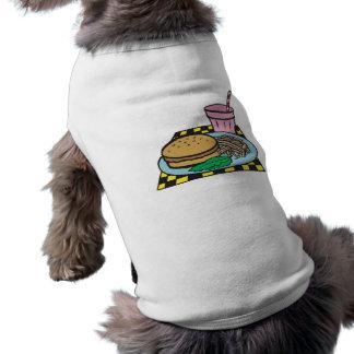 retro middagsnabbmatmål långärmad hundtöja