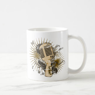 Retro mikrofon kaffemugg