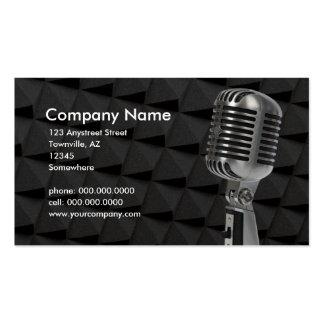 retro mikrofon set av standard visitkort