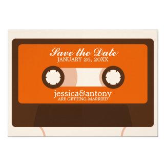 Retro Mixtape bröllop spara datum 12,7 X 17,8 Cm Inbjudningskort