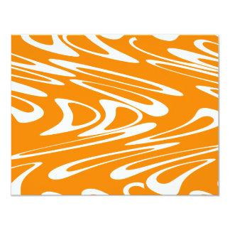 Retro modell för orange och för vit personliga tillkännagivande