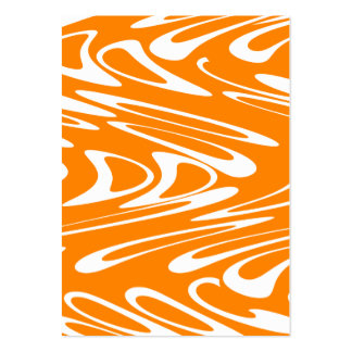 Retro modell för orange och för vit set av breda visitkort