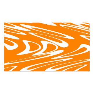 Retro modell för orange och för vit visit kort