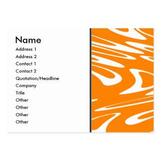Retro modell för orange och för vit visitkort mall