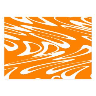 Retro modell för orange och för vit visitkort