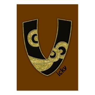 retro monogram - V Visitkort Mallar