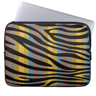Retro mönster 10 för färgsebrarand datorskydds fodral