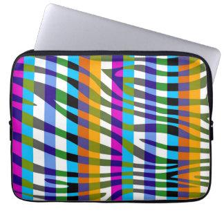 Retro mönster 11 för färgsebrarand laptop datorskydd