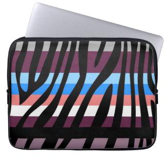 Retro mönster 15 för färgsebrarand laptop fodral