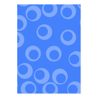 Retro mönster. Cirkla designen i blue. Set Av Breda Visitkort