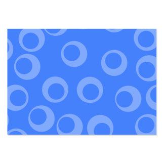 Retro mönster. Cirkla designen i blue. Visitkort