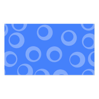 Retro mönster. Cirkla designen i blue. Set Av Standard Visitkort