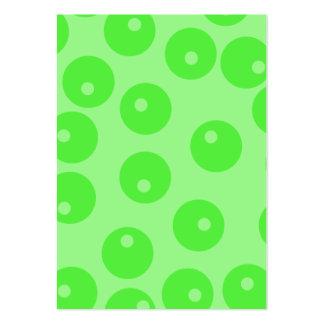 Retro mönster. Cirkla designen i green. Set Av Breda Visitkort