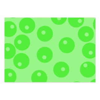 Retro mönster. Cirkla designen i green. Visitkort