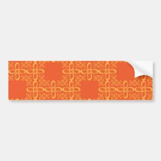 Retro mönster för orange vintage bildekal