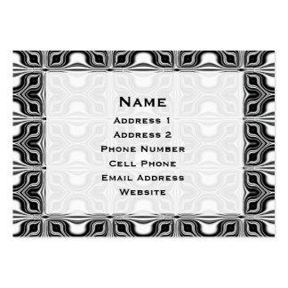 Retro mönster för svart vit set av breda visitkort