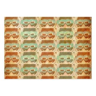 Retro mönster för vintagebruntexponeringsglas visit kort