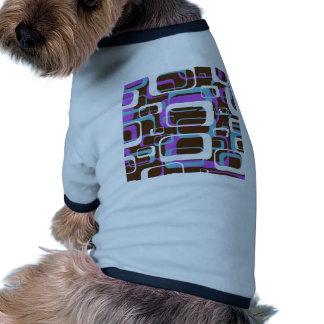 Retro mönstrat hund t-shirt