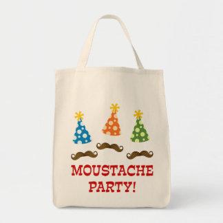 Retro Moustacheparty Mat Tygkasse