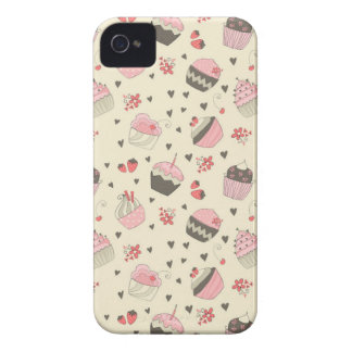 Retro muffins iPhone 4 Case-Mate cases
