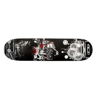 Retro musikdäck old school skateboard bräda 21,6 cm